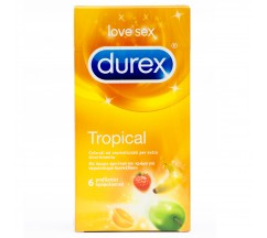 TROPICAL DUREX CONDOMS 6 UNITS