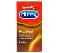 REAL FEEL DUREX CONDOMS 6 UNITS