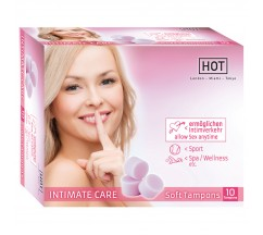 HOT INTIMATE CARE SOFT TAMPONES PACKAGE WITH 10 TAMPONS