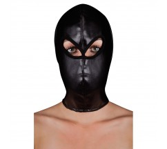 OUCH! EXTREME LEATHER HOOD MASK BLACK