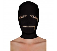 OUCH! EXTREME ZIPPER MASK EYE AND MOUTH BLACK