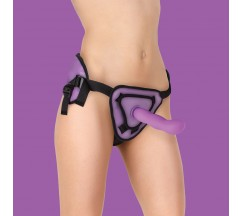 STRAP-ON OUCH! DELUXE SILICONE 20,5CM ROXO