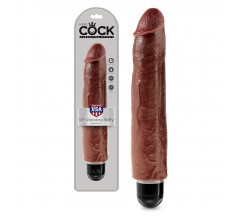 "KING COCK VIBRATING STIFFY 10"" REALISTIC VIBRATOR MULATTO"