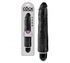 "KING COCK VIBRATING STIFFY 10"" REALISTIC VIBRATOR BLACK"