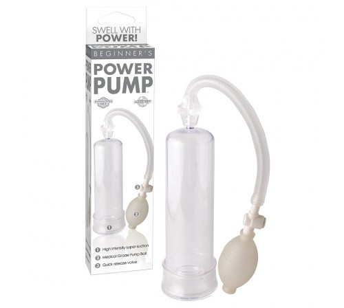 BOMBA PARA O PÉNIS BEGINNER'S POWER PUMP PIPEDREAM TRANSPARENTE