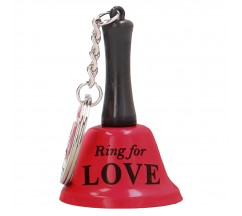 BELL RING FOR LOVE KEYCHAIN RED