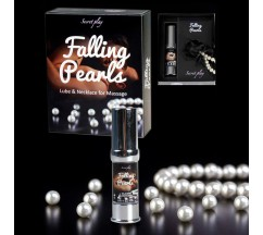 SECRET PLAY FALLING PEARLS LUBE AND NECKLACE