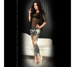 LEGGINGS CR-3456 BROWN AND BLACK