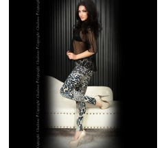 LEGGINGS CR-3456 AZUIS E PRETAS