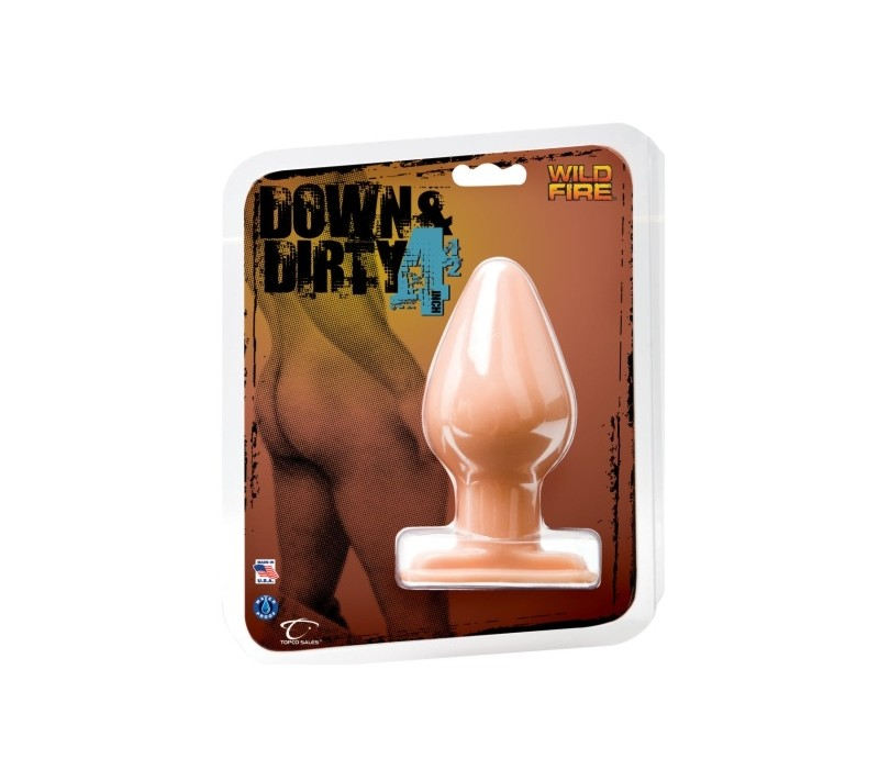"PLUG ANAL WILDFIRE DOWN & DIRTY 4.5"" BRANCO"