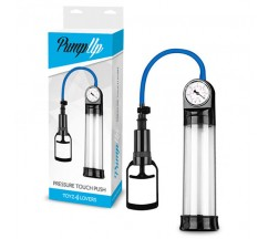 PRESSURE TOUCH PUSH PENIS PUMP WITH GAUGE CLEAR
