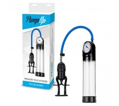 PRESSURE TOUCH FINGER PENIS PUMP WITH GAUGE CLEAR