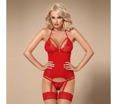 OBSESSIVE 838-COR CORSET AND THONG