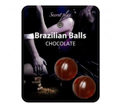 KISSABLE LUBRICANT BALLS CHOCOLATE FLAVOUR 2 x 4GR