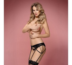OBSESSIVE 854-GAR GARTER BELT AND THONG