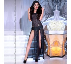 DRESS AND PANTY CR-4259 BLACK