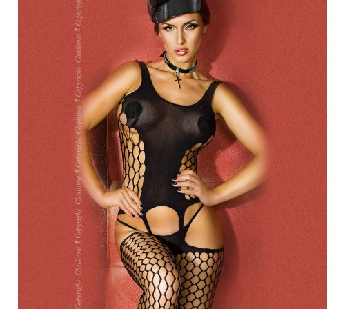 BODYSTOCKING CR-3282 NEGRO