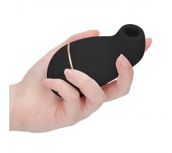 IRRESISTIBLE KISSABLE RECHARGEABLE CLITORAL STIMULATOR BLACK