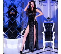 DRESS AND PANTY CR-4302 BLACK