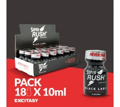PACK COM 18 SUPER RUSH BLACK LABEL 10ML