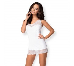 OBSESSIVE MIAMOR CHEMISE AND THONG WHITE
