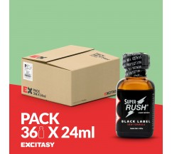PACK COM 36 SUPER RUSH BLACK LABEL 24ML
