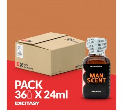 PACK WITH 36 MAN SCENT 24ML