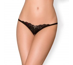 OBSESSIVE 852-THC CROTCHLESS THONG BLACK