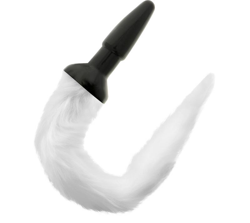 DARKNESS TAIL BUTT SILICONE PLUG -WHITE