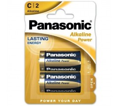 PANASONIC BRONZE BATTERY C LR14 2 UNIDADES