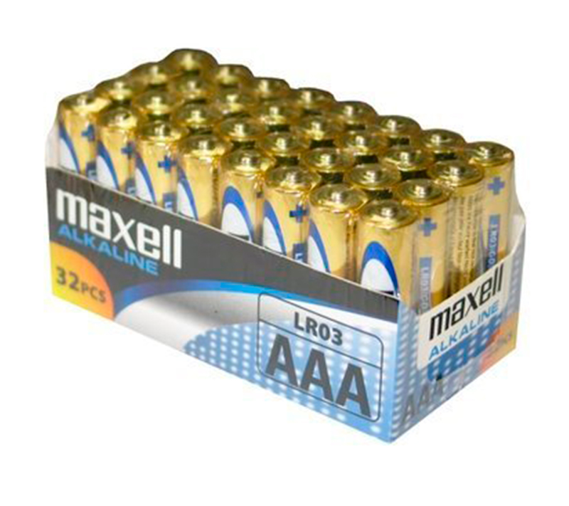 PACK DE BATERIA MAXELL AAA LR03 * 32 UDS