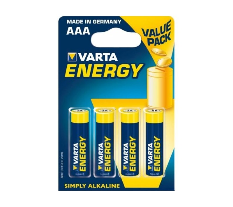 VARTA ENERGY BATTERY AAA LR03 4 UNITS