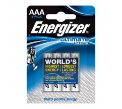 ENERGIZADOR ULTIMATE LITHIUM LITHIUM BATTERY AAA L92 LR03 1,5V BLISTER * 4