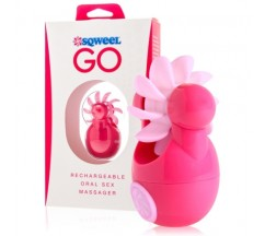 SQWEEL GO PINK ORAL SEX STIMULATOR WITH USB CHARGER