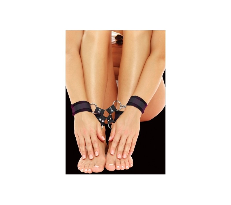 OUCH! VELCRO HAND AND LEG CUFFS BLACK
