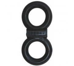ANILLO VIBRADOR DESECHABLE ADAM MALE TOYS COCK AND BALL INFINITY RING