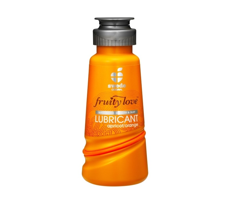 LUBRIFICANTE FRUITY LOVE DAMASCO E LARANJA 100ML