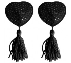 CUBRE PEZONES OUCH! HEART NIPPLE TASSELS NEGROS