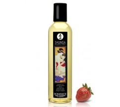 SHUNGA MASSAGE OIL ROMANCE STRAWBERRY 250ML