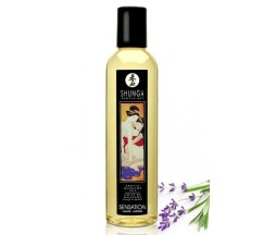 ÓLEO DE MASSAGEM SHUNGA SENSATION LAVANDA 250ML