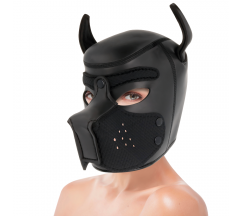 DARKNESS NEOPRENE DOG HOOD WITH REMOVABLE MUZZLE M