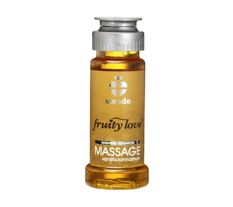 ÓLEO DE MASSAGEM FRUITY LOVE BAUNILHA E CANELA 50ML