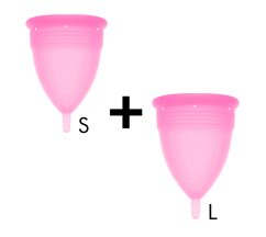 STERCUP MENSTRUAL CUP SIZE S + L PINK