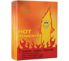 PRESERVATIVOS HOT MOMENTS 3 UNIDADES
