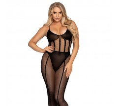 LEG AVENUE BODYSUIT E SKIRT SET ONE SIZE