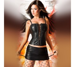 CORSET WITH SKIRT AND THONG CR-3079