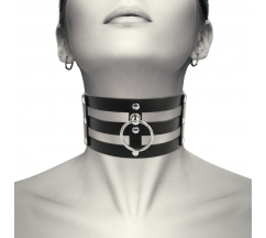 COQUETTE HAND CRAFTED CHOKER VEGAN LEATHER - FETISH