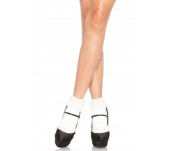 ANKLE HIGHS WITH LACE TOP WHITE
