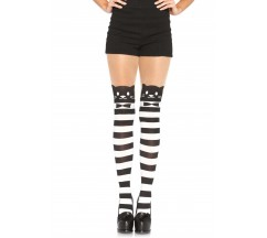 FANCY CAT STRIPED PANTYHOSE
