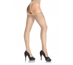 GARTER BELT EFFECT PANTYHOSE NUDE
